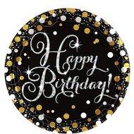 Happy Birthday noir et doré
