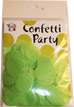 Confettis soie vert pomme