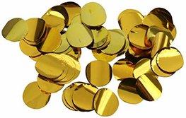 Confettis métallisés dorés
