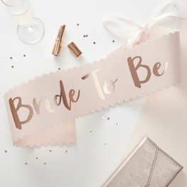Echarpe bride to be  rose gold