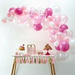 Arche de ballons roses
