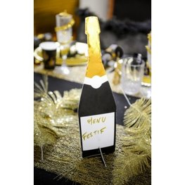 Marque-table bouteille de champagne