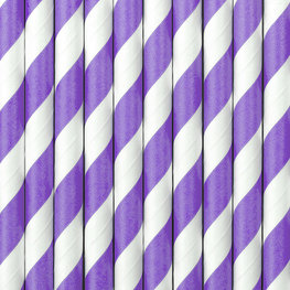 Pailles en papier lilas