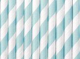 Pailles en papier bleu clair