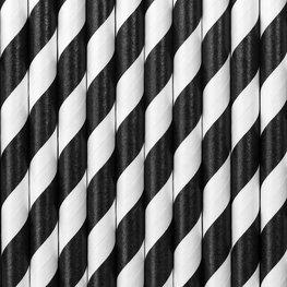 Pailles en papier noir