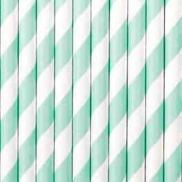 Pailles en papier bleu ciel