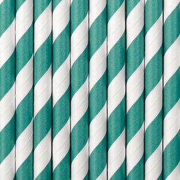 Pailles en papier turquoise