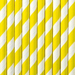 Pailles en papier jaune