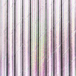 Pailles en papier irisées