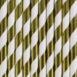 Pailles en papier doré métallisé
