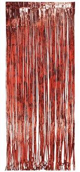 Rideaux à franges rouges