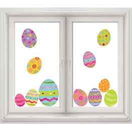 Décorations de Pâques pour fenêtre