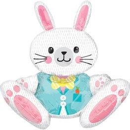 Ballon métallique lapin de Pâques