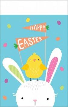 Nappe Hello Bunny bleue Pâques