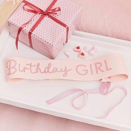 Echarpe Birthday Girl rose