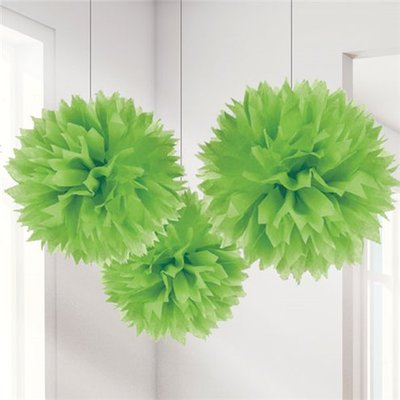 Pompons verts lime