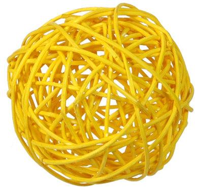 Assortiment boules de rotin jaunes