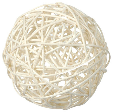 Sachet assortiment boules de rotin blanc