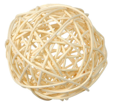 Assortiment boules de rotin ivoire