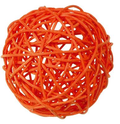 Assortiment boules de rotin orange