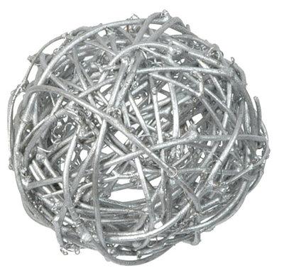 Assortiment boules de rotin argenté