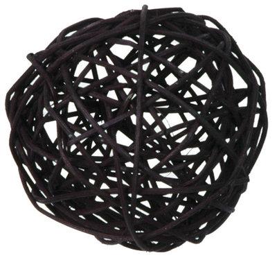 Assortiment boules de rotin noir