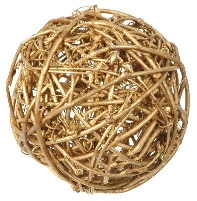 Assortiment boules de rotin doré