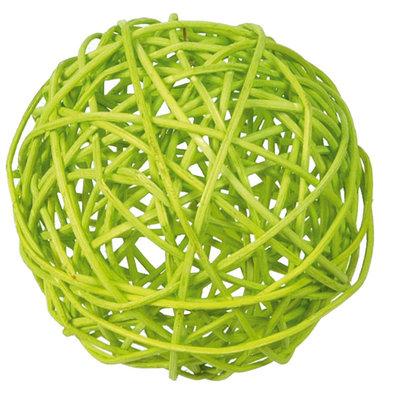 Assortiment boules de rotin verts
