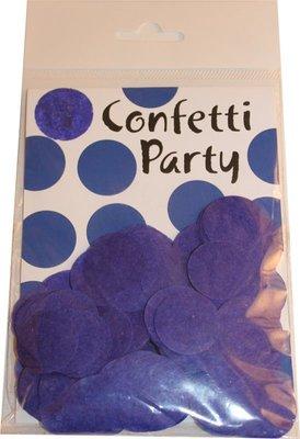 Confettis soie bleu royal