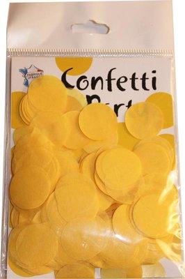 Confettis soie jaunes