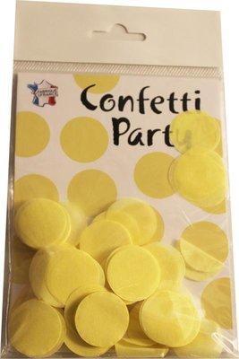 Confettis soie jaune pâle