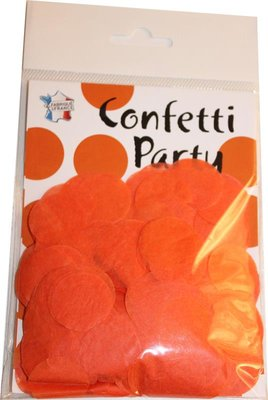 Confettis soie orange