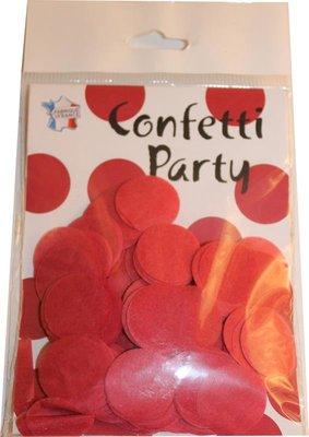 Confettis soie rouges