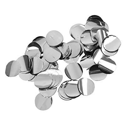 Confettis métallisés argentés