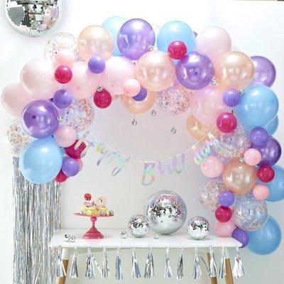 Arche de ballons pastels