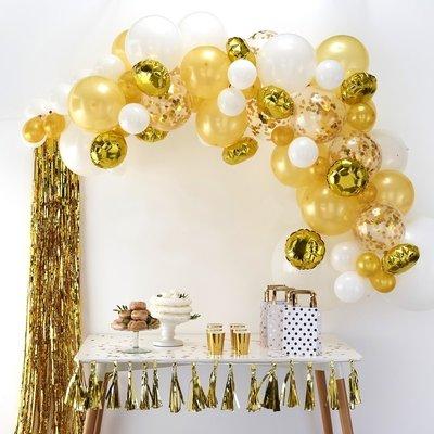 Arche de ballons dorés