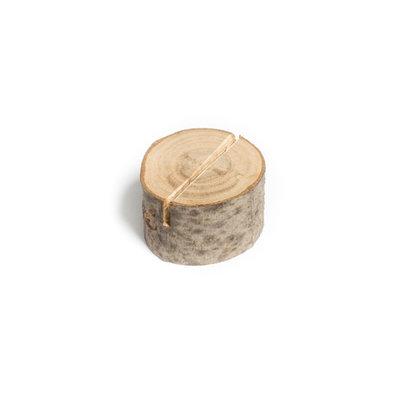 Marque-places rondins de bois