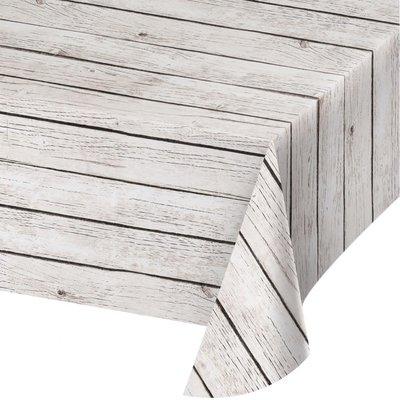 Nappe effet bois blanc