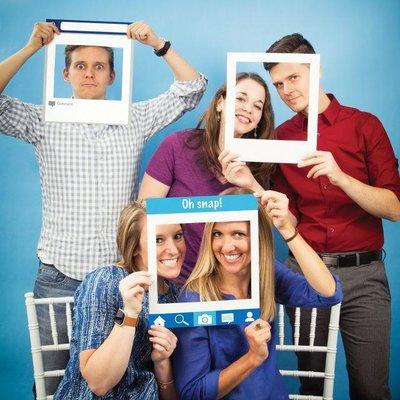 Cadre réseaux sociaux pour photo booth