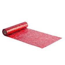 Chemin de table paillettes rouge