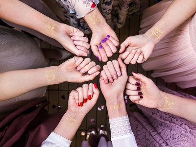 Tatouages temporaires team bride dorés