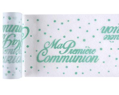 Chemin de table communion vert menthe