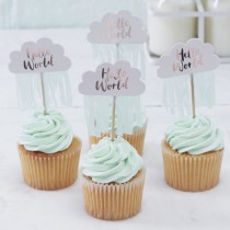 Cupcakes toppers hello world