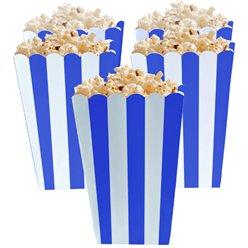 Boîtes à pop-corn bleu royal
