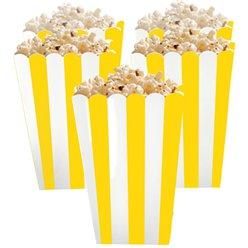 Boîtes à pop-corn jaunes