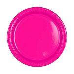 Petites assiettes rose foncé