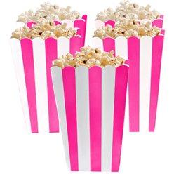 Boîtes à pop-corn rose foncé