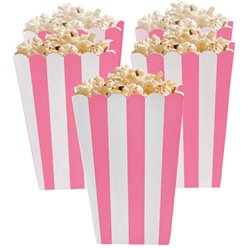 Boîtes à pop-corn rose clair
