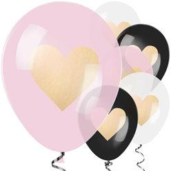 Ballons latex coeur