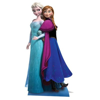 Image carton décoratif Anna & Elsa XXL